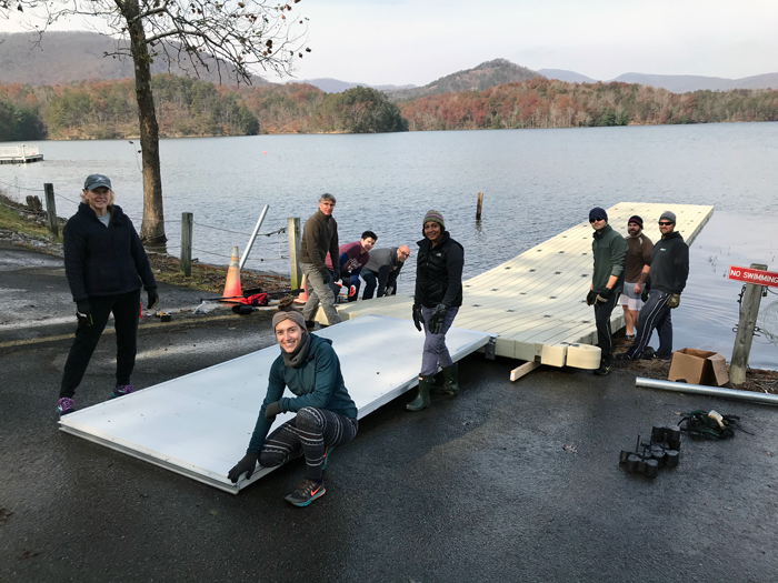 low-profile dock carvins cove installation